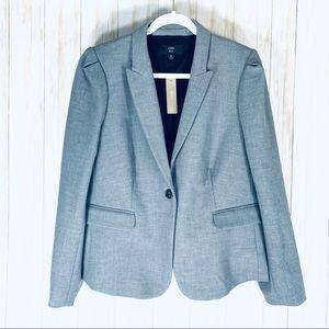 J Crew 365 puff sleeve grey blazer size 18 NWT